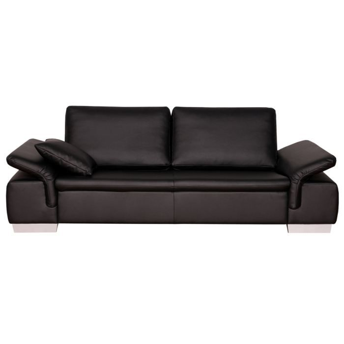 canap fixe 2 places switsofa broadway noir achat. Black Bedroom Furniture Sets. Home Design Ideas