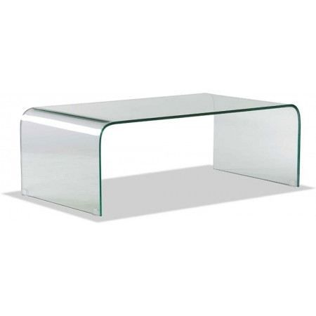 table basse en verre transparent lexy xl achat vente. Black Bedroom Furniture Sets. Home Design Ideas