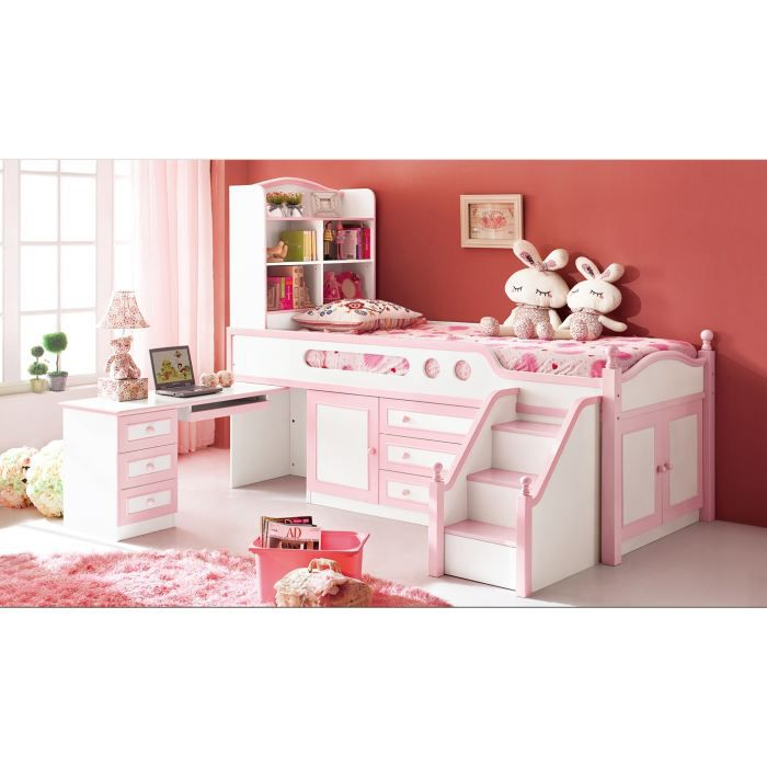 lit multifonction pour fille julie rose achat vente. Black Bedroom Furniture Sets. Home Design Ideas