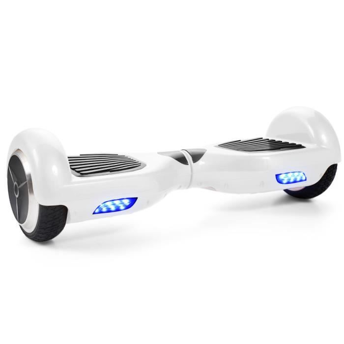 gyropode electrique blanc achat vente hoverboard gyropode electrique blanc cdiscount. Black Bedroom Furniture Sets. Home Design Ideas
