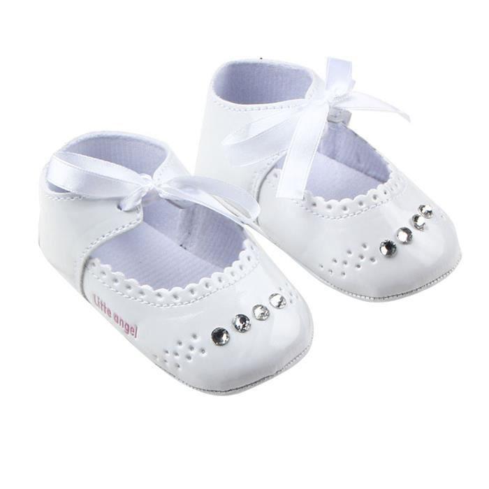 Lit enfant fille espadrille Chaussures bébé @blanc
