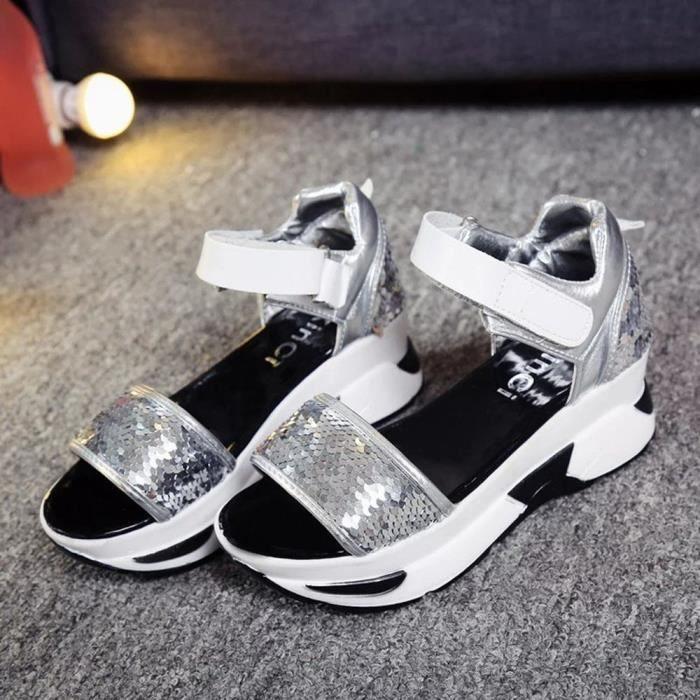 ESCARPIN Sandales Chaussures d'été des femmes Peep-toe Chau