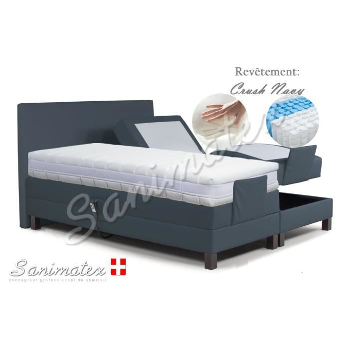 lit electrique boxspring 180x200 vesuvio amazonia espresso achat vente lit complet lit. Black Bedroom Furniture Sets. Home Design Ideas
