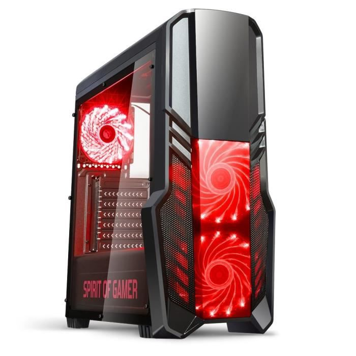 spirit of gamer bo tier pc gamer rogue ii rouge prix pas cher cdiscount. Black Bedroom Furniture Sets. Home Design Ideas
