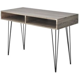 BUREAU  Bureau table meuble travail informatique avec 2 co