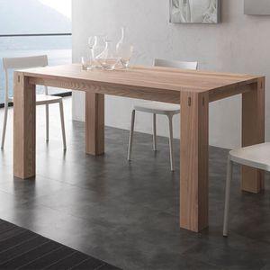 TABLE À MANGER SEULE Table à manger en bois massif contemporaine TOBI