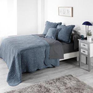 JETÉE DE LIT - BOUTIS Couvre lit matelasse Stonny Bleu 240x220cm