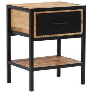vidaXL Table de Chevet Table de Nuit Armoire de Chevet Table de Canap/é Table de Salon avec 2 Tiroirs Chambre Gris 40x30x40 cm Agglom/ér/é