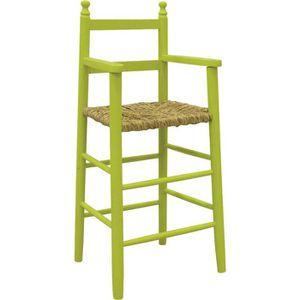CHAISE HAUTE  Chaise haute pour enfant en hêtre laqué anis et…