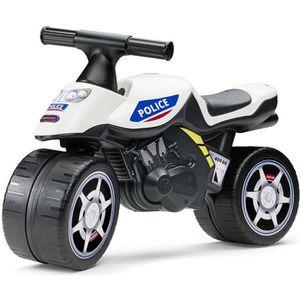 PORTEUR - POUSSEUR FALK Porteur Baby Moto Police - Blanc