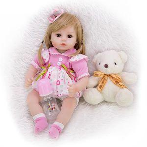 POUPÉE 46CM bebe poupée reborn enfant en bas âge fille po