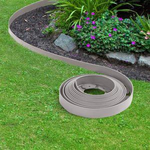 BORDURE Bordurette de jardin flexible grise 10M avec 30 pi