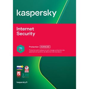 ANTIVIRUS Kaspersky Internet Security 2018 5 Postes - 1 An -