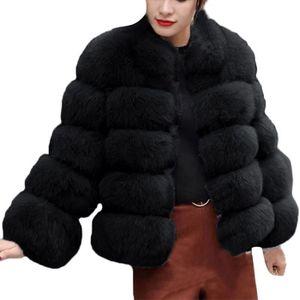 Femmes Mode Luxe Manteau en fausse fourrure Support Automne Hiver chaud Pardessus 3