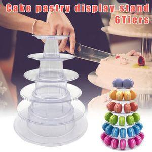 Modèle Uni Rond Mariage//Fête Gâteau séparateurs-Acrylique Transparent
