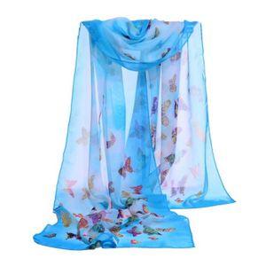 Air Conditionné Magnolia écharpes écharpe élégant décoratif Femmes Femme en mousseline de soie N