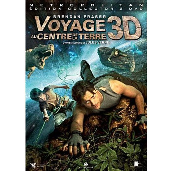 dvd voyage au centre de la terre 3d en dvd film pas cher brevig eric cdiscount. Black Bedroom Furniture Sets. Home Design Ideas