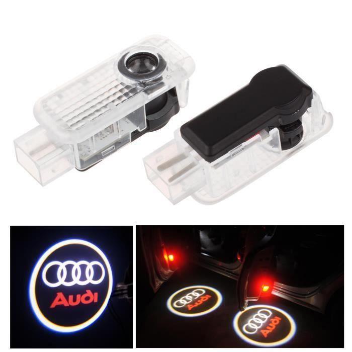 TK Porte 2pcs LED voiture bienvenue courtoisie de lumière LED voiture projecteur laser Logo Pour Audi Logo Puissanc