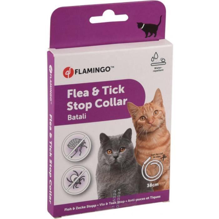antiparasitaire collier 38 cm pour chat. BATALI puces et tiques.-Flamingo Pet Products 3,000000