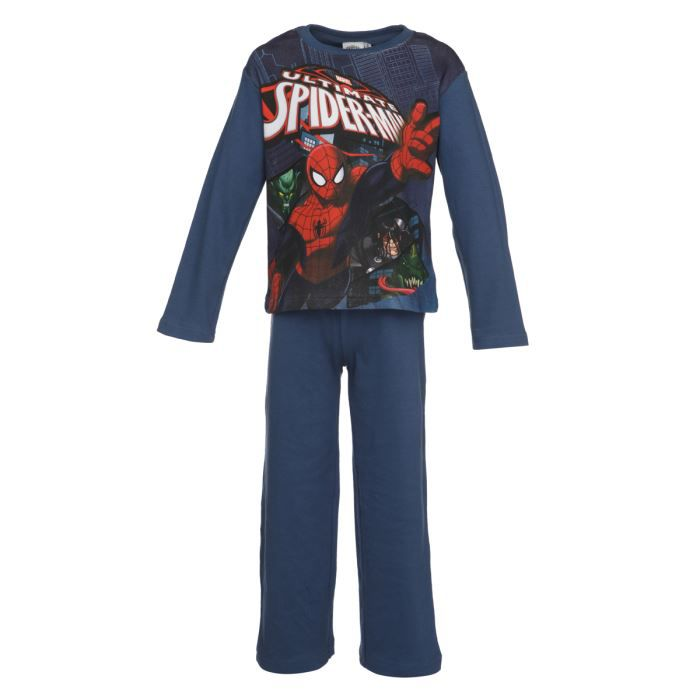 spiderman pyjama enfant gar on bleu achat vente pyjama. Black Bedroom Furniture Sets. Home Design Ideas