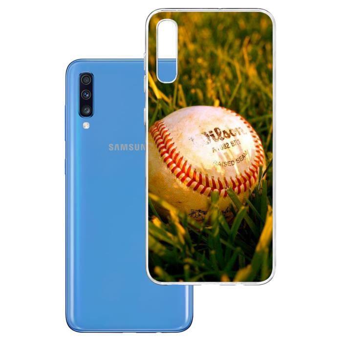 Coque pour Samsung Galaxy A70 - Baseball. Accessoire pour telephone, coque rigide de protection