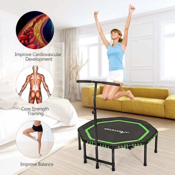 MOVTOTOP 48 pouces pliant trampoline machine de fitness trampoline formateur aérobie