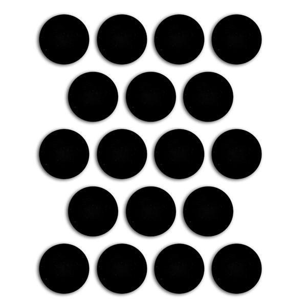 TOGA Lot de 18 aimants adhésifs 19 mm
