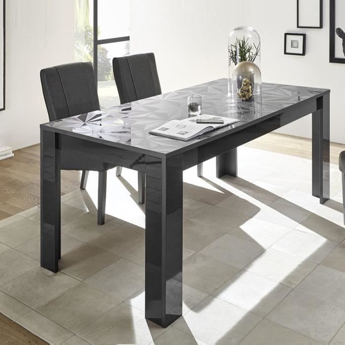 Table extensible 180 gris laqué design PAOLO 3 Blanc