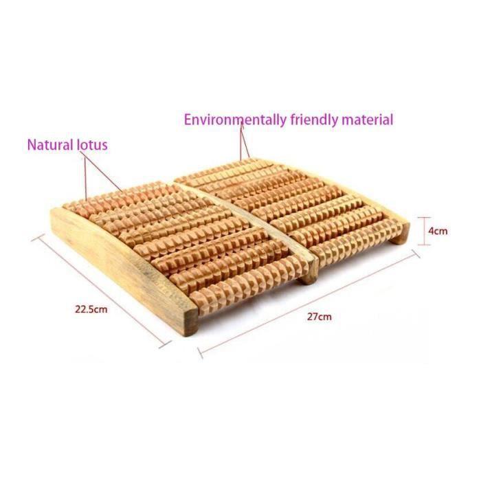 Masseur de pieds en bois de haute qualité en bois cinq-huit rangées traitement anti-stress relaxant - Modèle: green - HSJSZHA11186