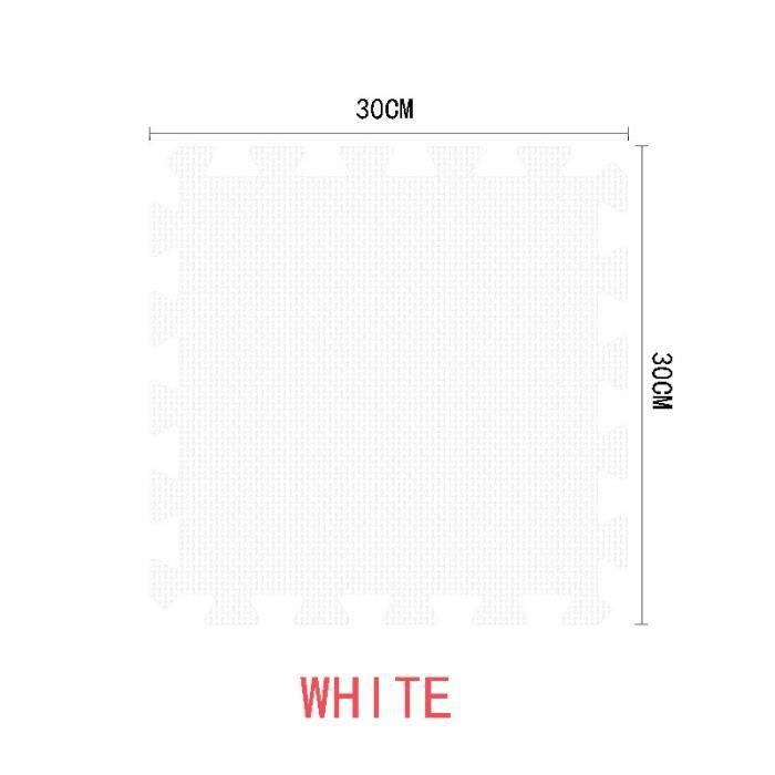Tapis d'éveil,9-18-24-30 pcs-lot doux EVA mousse bébé enfants enfants tapis de jeu noir blanc couleur Puzzle - Type white-24 pieces