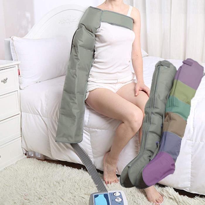 COUSSIN DE MASSAGE NXX Appareil De Massage avec Bottes Et Ceinture Eacutepaule 6 Coussins dair Deacutesactivables Dureacutee 499