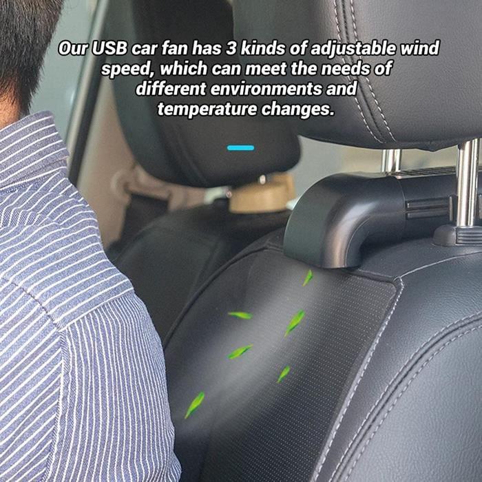 Ventilateur De Voiture Ventilateur Camping Car USB Ventilateur De Voiture Ventilateurs pour Les Voitures Ventilateurs De Refroid,647