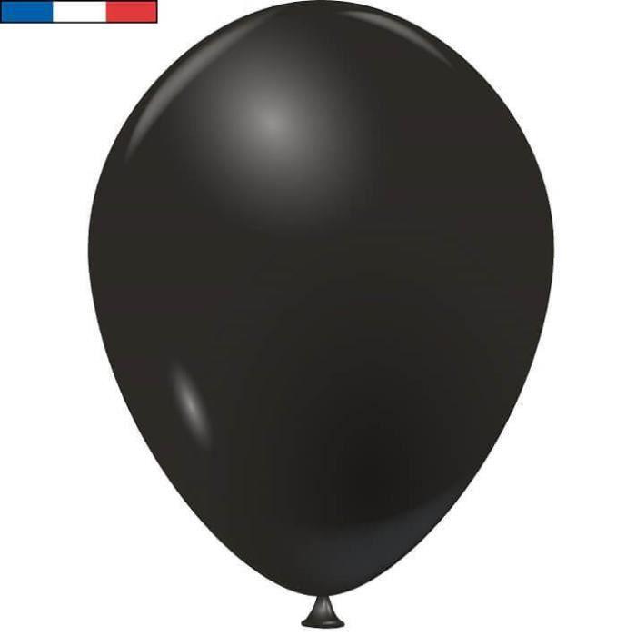 Ballon français en latex opaque 25cm noir (x100) REF/1976