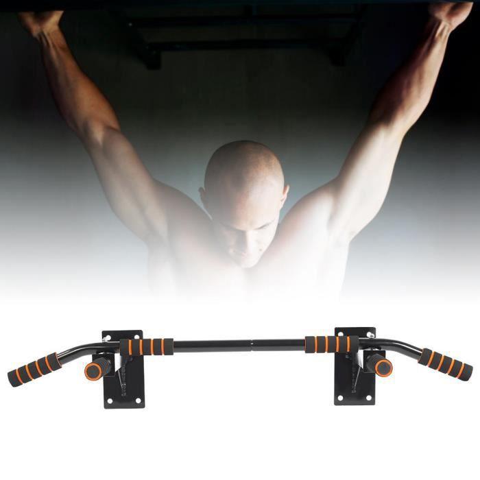 Support Mural Barre De Traction Exercice De Musculation Avec 6 Poignées En Mousse Fitness Gym Maison -HEG