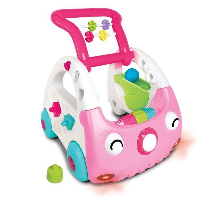 INFANTINO Mini car découverte 3 en 1 rose