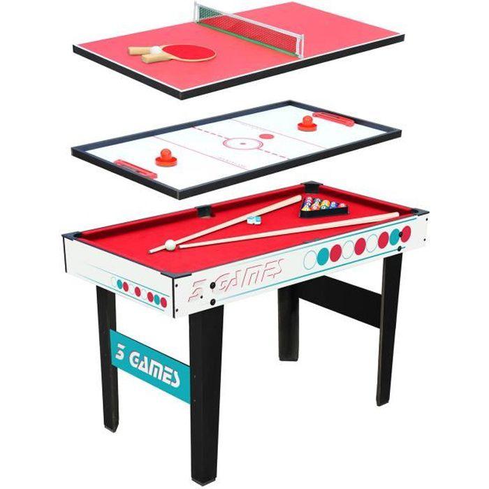 Table multi jeux 3 en 1 - Billard - Ping Pong - Hockey