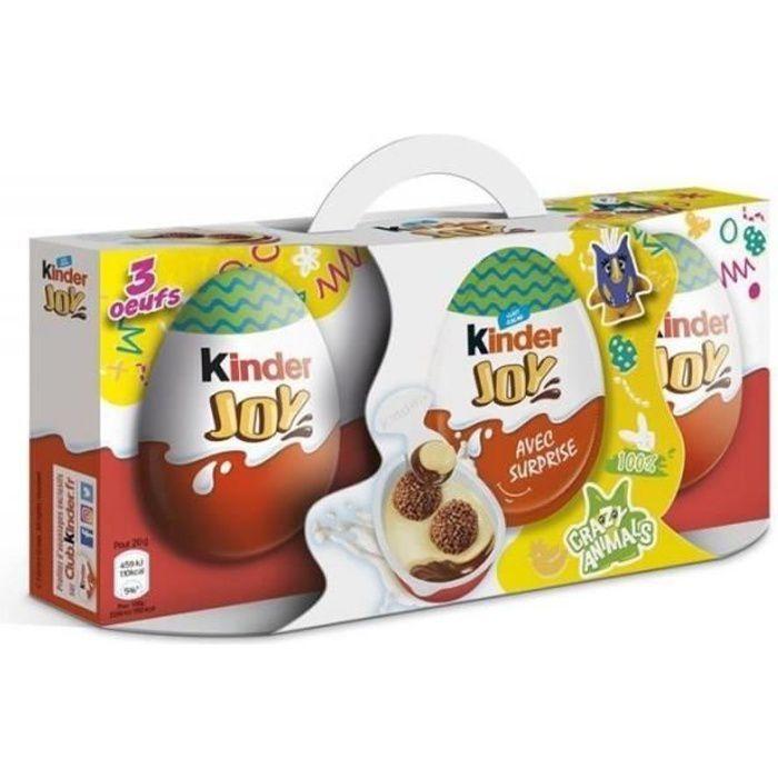 Kinder Joy Pâques 60g par 3 (lot de 2 soit 6 oeufs)