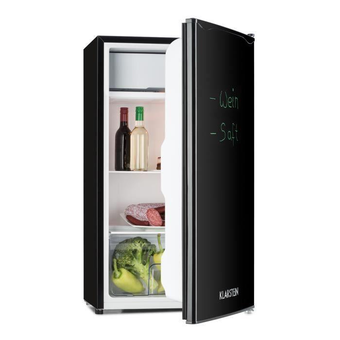 Klarstein Spitzbergen Uni Réfrigérateur 90 litres + compartiment freezer - Classe énergétique A+ - noir