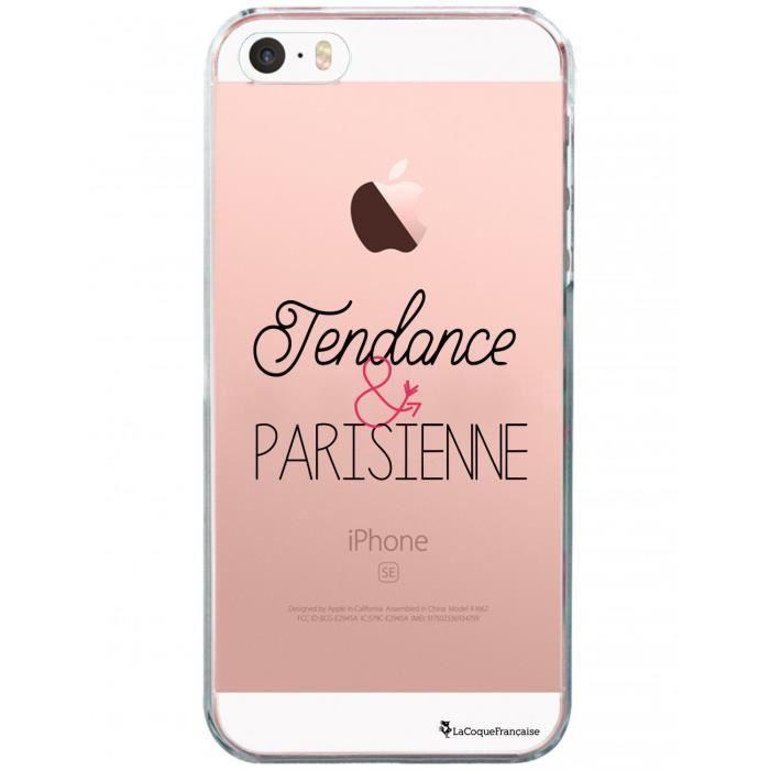 Coque iPhone SE / 5S / 5 rigide transparente Tendance et Parisienne Ecriture Tendance et Design La Coque Francaise