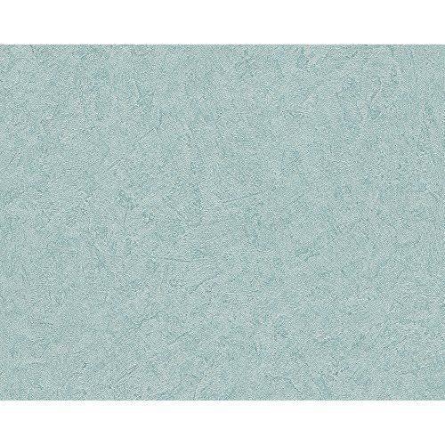 Livingwalls Titanium Uni-Ball Papier peint, papier peint structure brun métallique 315410, bleu, 315427