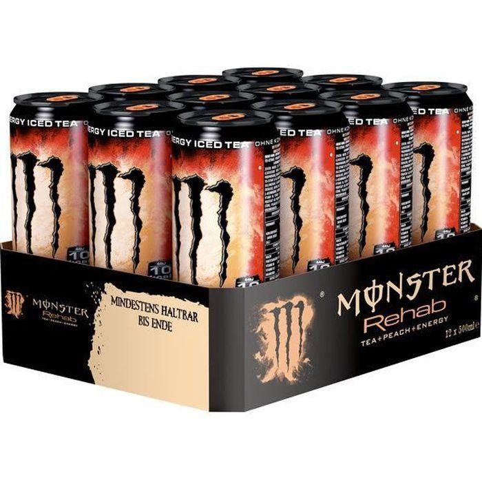 Monster Rehab Tea Peach (Thé Peche) 0,5l (Pack de 12)