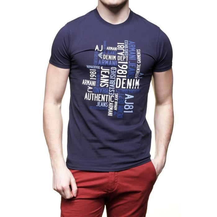 T Shirt Armani Jeans C6h14 Da blue