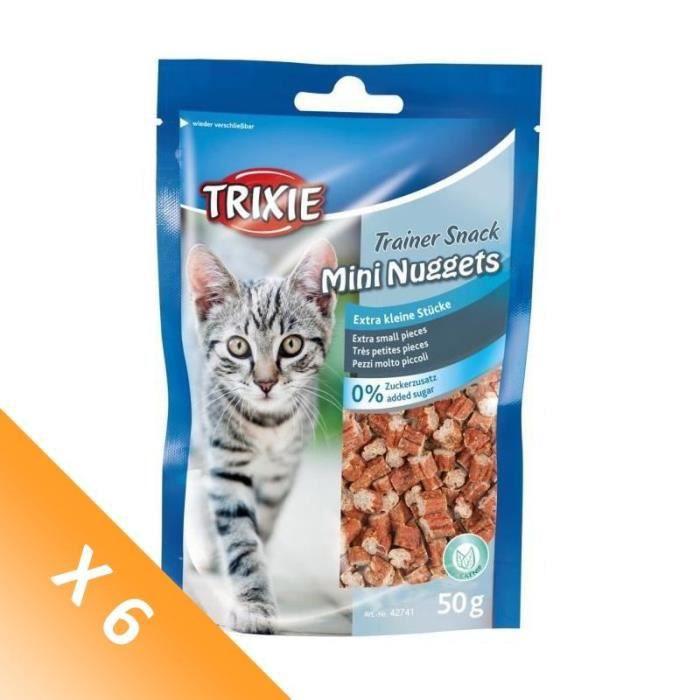 [LOT DE 6] TRIXIE Trainer Snack Mini Nuggets pour chat - 50g