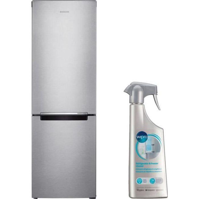 SAMSUNG Réfrigérateur Frigo Combiné inox 311L Froid ventilé No Frost MultiFlow