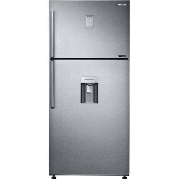 Samsung RT50K6510SL - Réfrigérateur double portes - 499L (374+125) - Froid ventilé intégral - 79x178.5cm - Silver