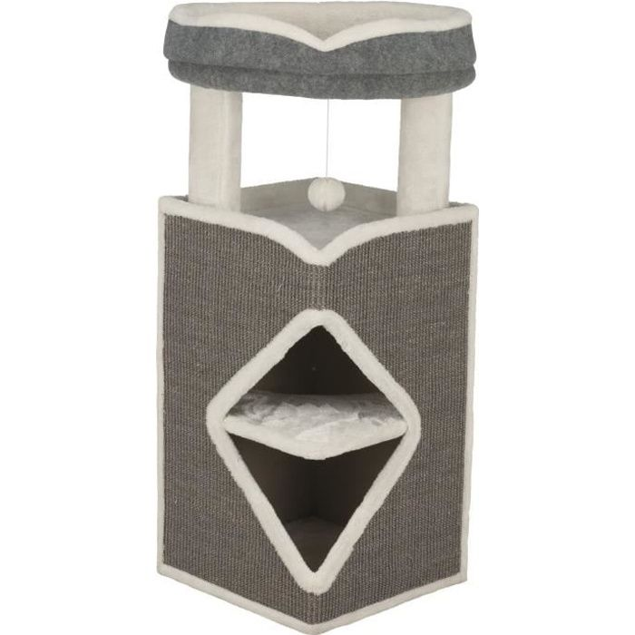 TRIXIE Cat Tower Arma 98cm - Gris, bleu et gris - Pour chat
