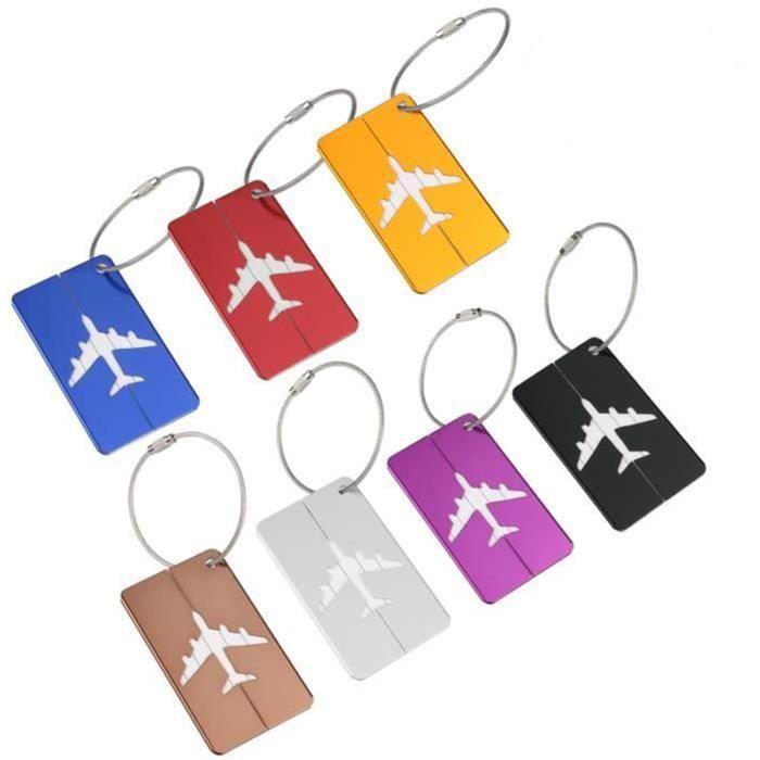 bleu Aveson Lot de 6 porte-/étiquettes pour bagage en aluminium avec /étiquettes