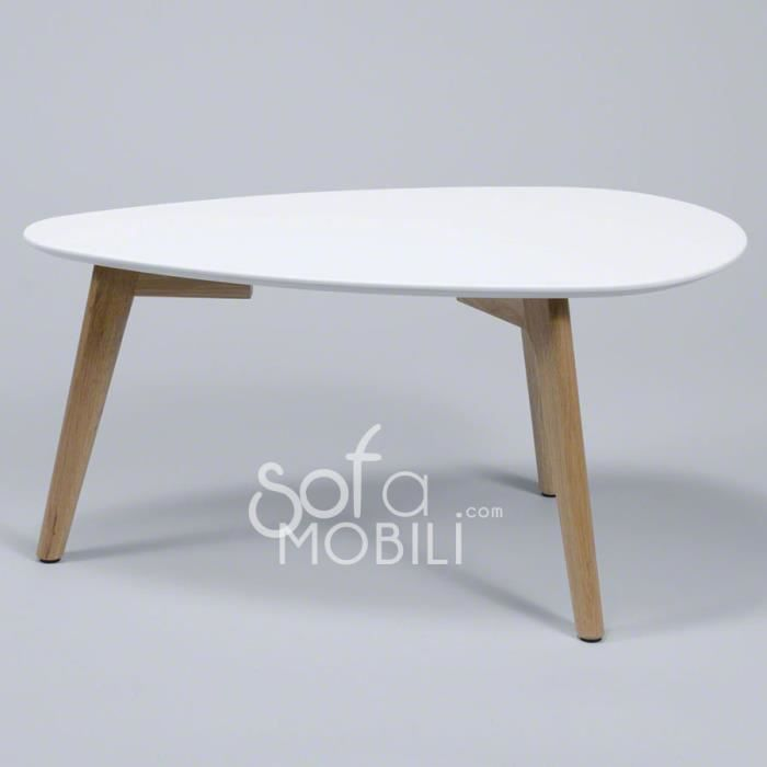 Table d'appoint style scandinave blanc ou gris MAJA Blanc Achat