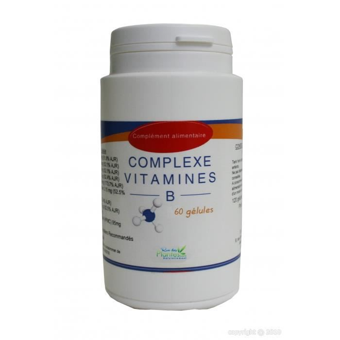Complexe vitamines B 60 gélules - Achat / Vente stress