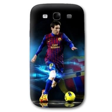 coque foot samsung galaxy s3 messi bleu achat coque. Black Bedroom Furniture Sets. Home Design Ideas